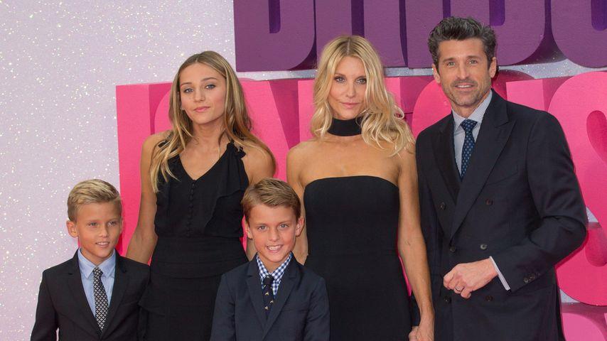 Patrick Dempsey, Jillian Fink und ihre Kids Tallula, Darby und Patrick  (v.r.) bei einer PremierePat
