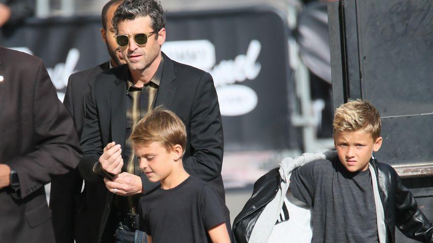Patrick Dempsey mit seinen Zwillingssöhnen Darby und Sullivan