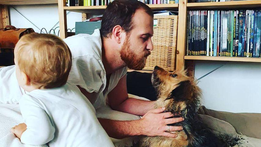 """""""Unter uns""""-Star Patrick Müller mit Sohn Lovis und seinem Hund"""