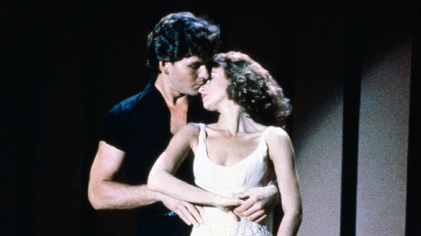 "Patrick Swayze und Jennifer Grey am Set von ""Dirty Dancing"""