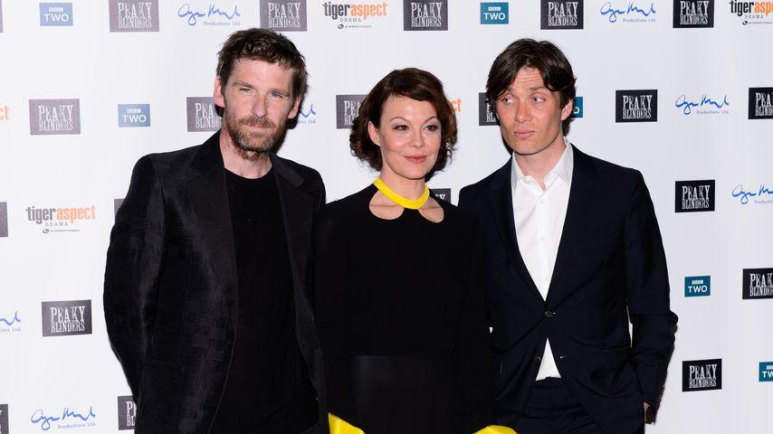 "Paul Anderson, Helen McCrory und Cillian Murphy bei der ""Peaky Blinders""-Premiere in London"