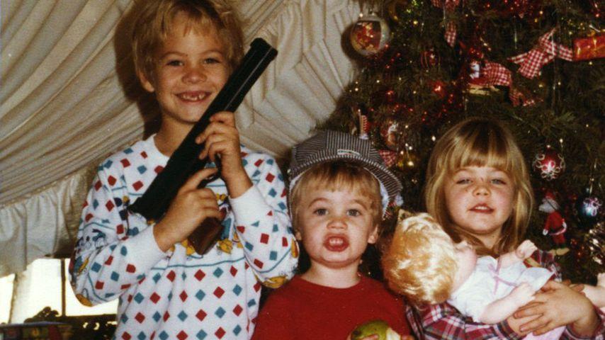 Paul Walker (links) mit seinen Geschwistern Caleb und Ashlie
