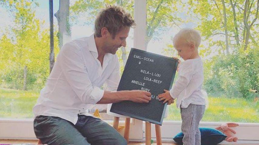 Peer Kusmagk und sein Sohn Emil-Ocean