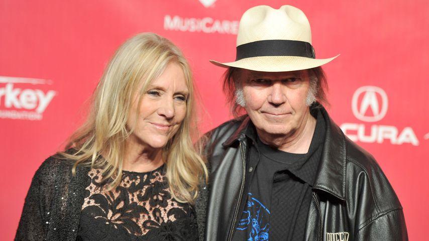 Pegi und Neil Young im Februar 2012