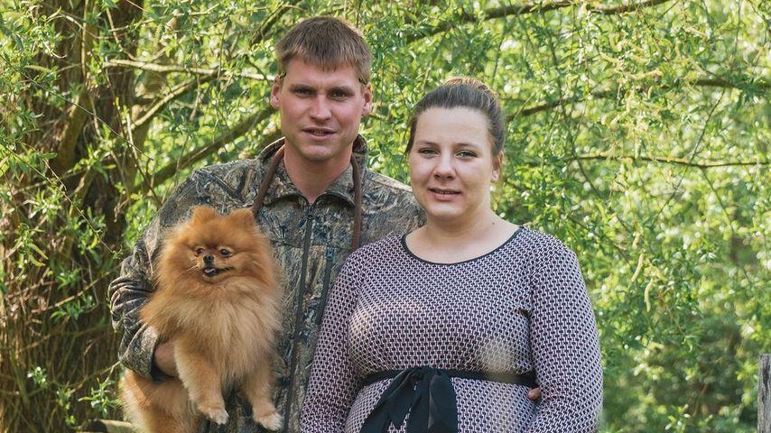 Peter und Sarafina Wollny mit ihrem Hund