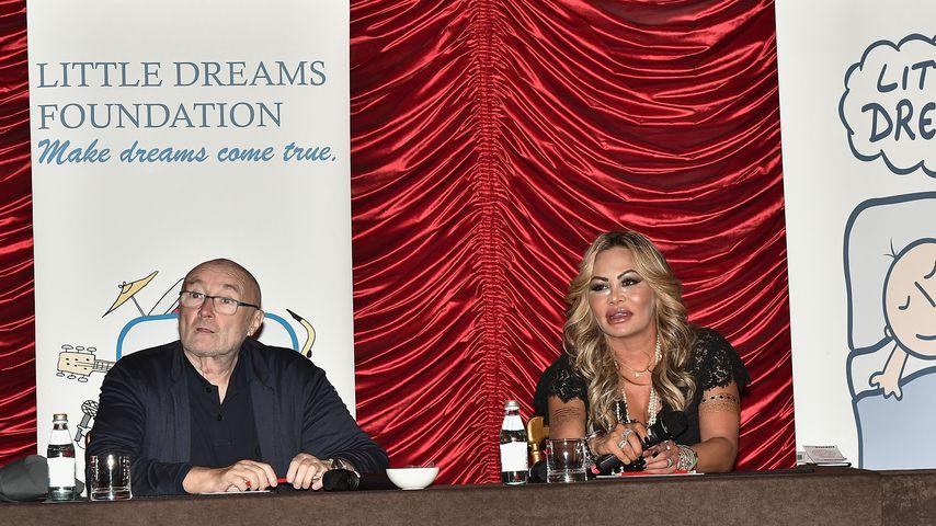 Phil Collins und Orianne Cevey, Oktober 2017