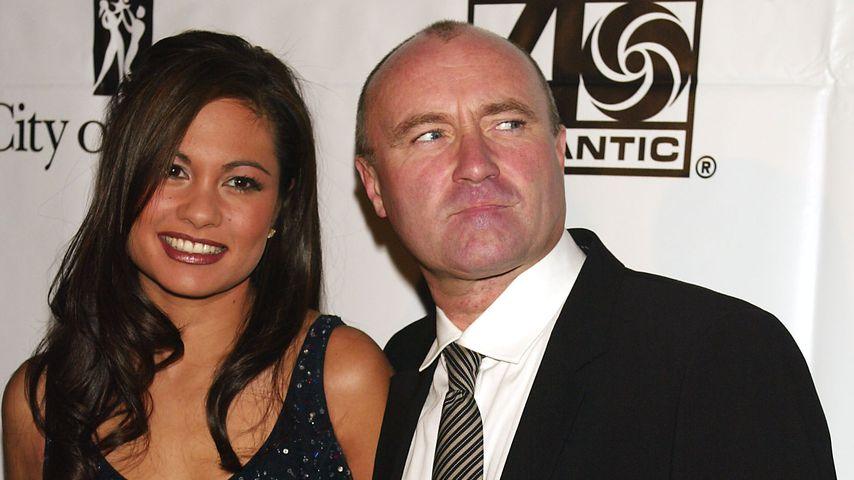 Phil Collins und Orianne Cevey 2002