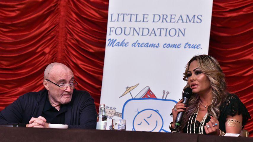 Phil Collins und Orianne Cevey bei einer Pressekonferenz in Miami im Oktober 2017