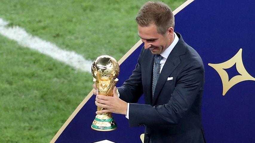 Philipp Lahm beim Finale der Fußballweltmeisterschaft 2018