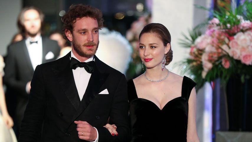 Pierre und Beatrice Casiraghi im März 2018 auf dem Rosenball in Monaco