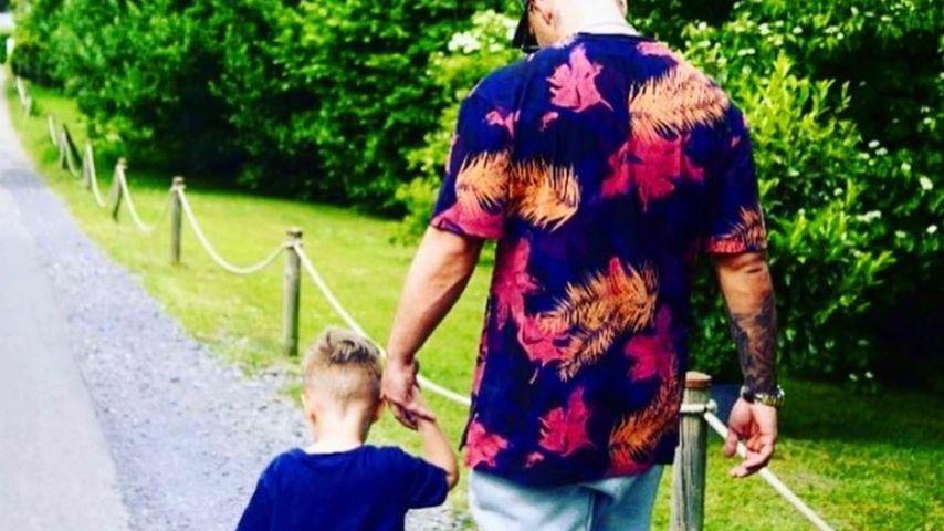 Pietro Lombardi mit seinem Sohn Alessio