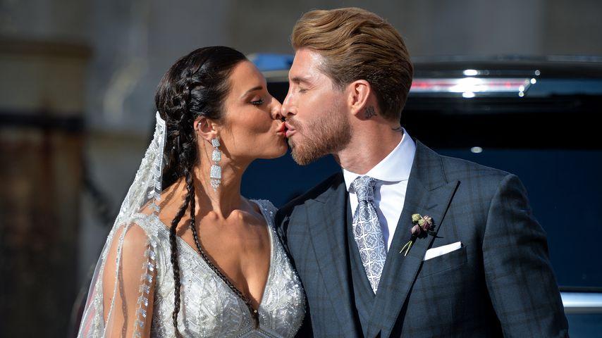Pilar Rubio und Sergio Ramos bei ihrer Hochzeit in Sevilla, 2019
