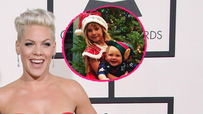 Zuckersüß! Pinks Kids sind schon mega in Weihnachts-Stimmung