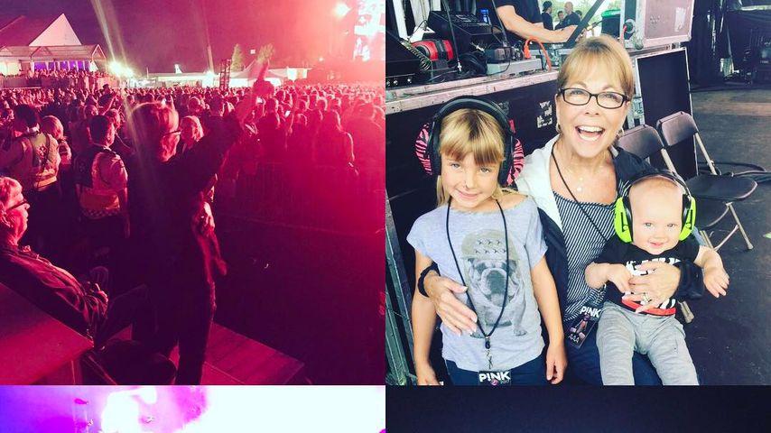 Pinks Kinder Willow Sage und Jameson Moon bei ihrem Konzert in Quebec