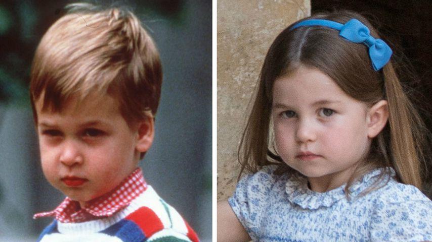 So ähnlich sehen sich Prinz William und Prinzessin Charlotte