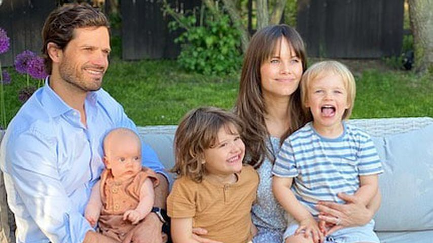Süß! Erstes Familienfoto der schwedischen Royals zu fünft