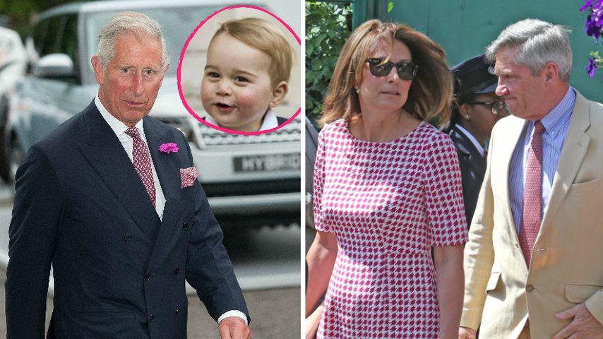 Prinz Charles, die Middletons und Prinz George