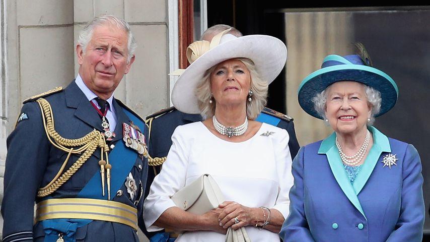 Prinz Charles, Herzogin Camilla und Queen Elizabeth im Juli 2018
