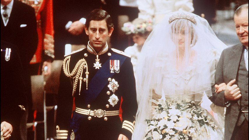 Prinz Charles und Prinzessin Diana bei ihrer Hochzeit im Juli 1981