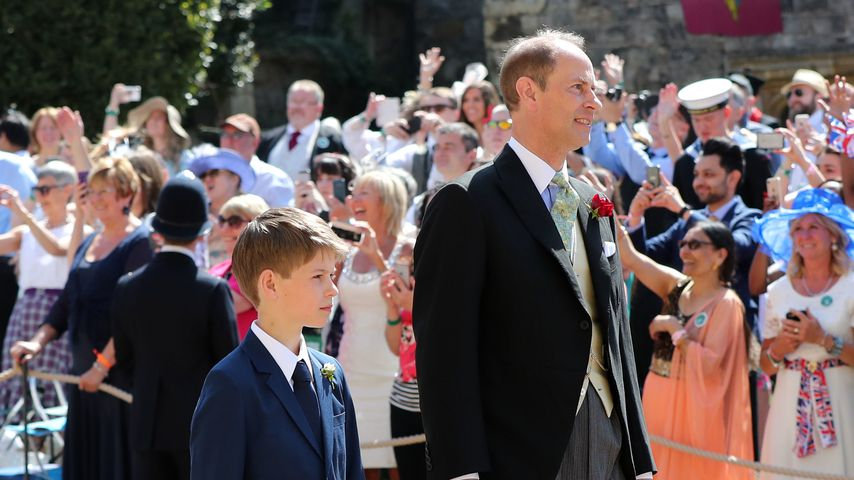 Prinz Edward mit seinem Sohn James im Mai 2019