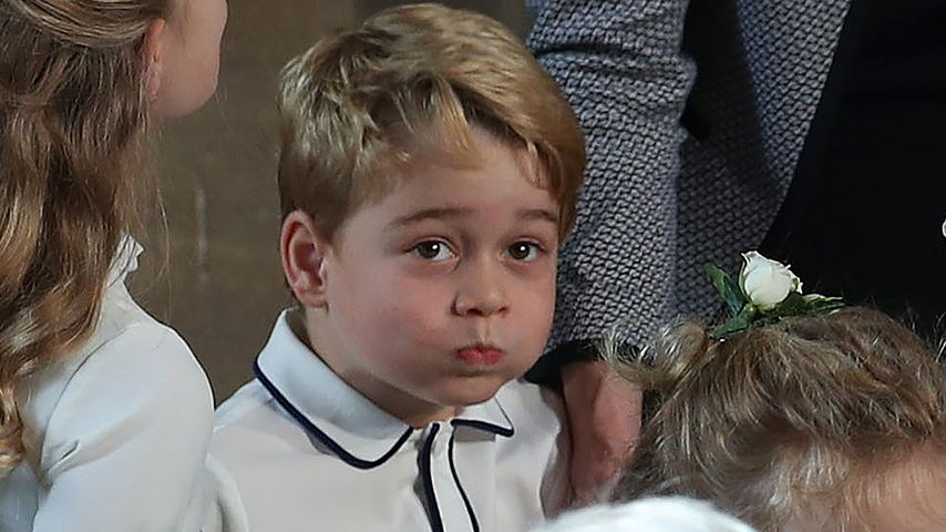 Prinz George bei der Hochzeit von Prinzessin Eugenie