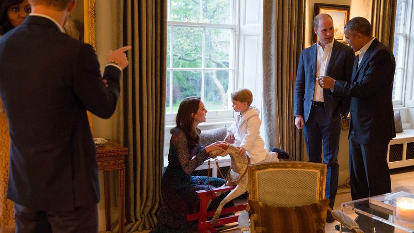 Prinz William, Prinz George, Barack Obama und Kate Middleton
