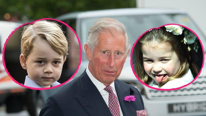Freche Kids! Prinz Charles muss Garten vor Enkeln retten!