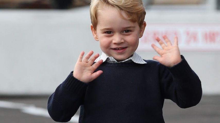 Nicht ohne ihn! Prinz George hat einen knuddeligen Begleiter