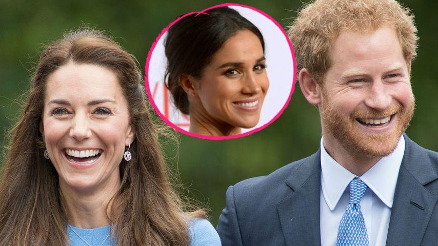 Herzogin Kate, Prinz Harry und Meghan Markle