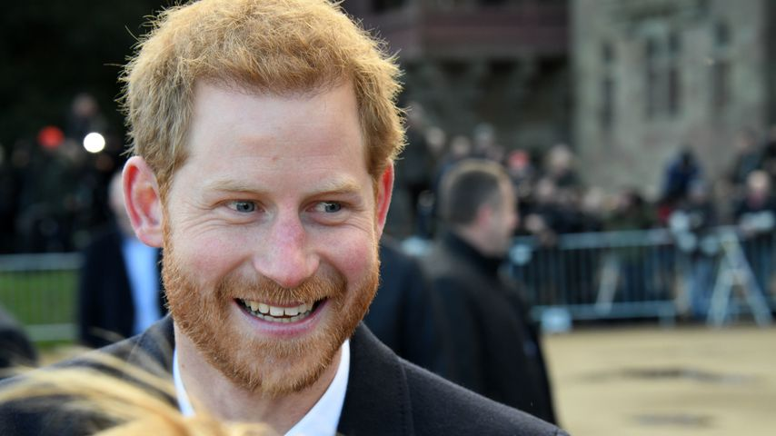 Prinz Harry bei einem Besuch in Cardiff