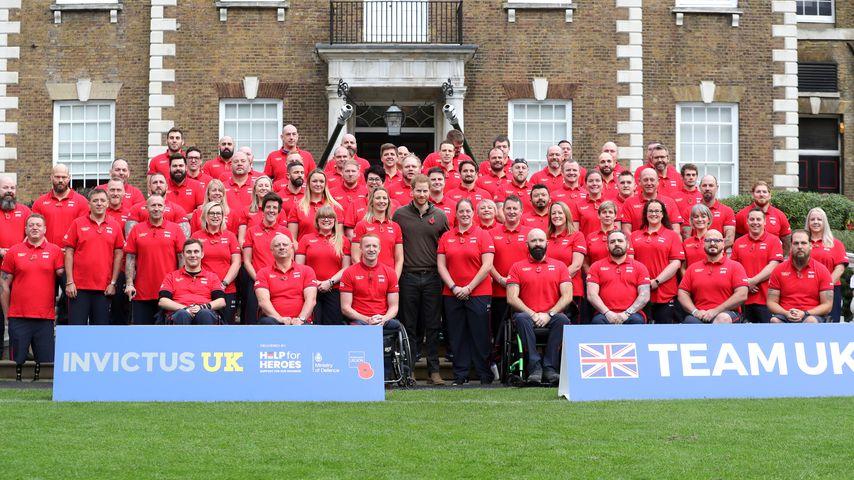 Prinz Harry mit dem britischen Team für die Invictus Games 2020