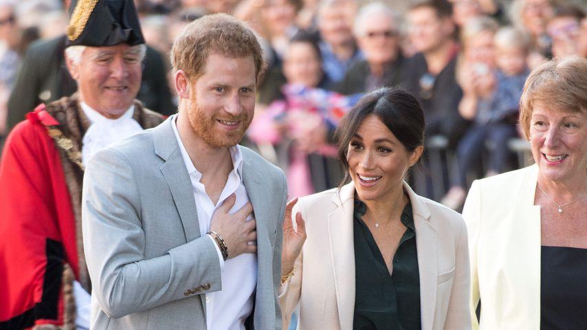 Prinz Harry und Herzogin Meghan bei ihrem Besuch in Sussex im Oktober 2018