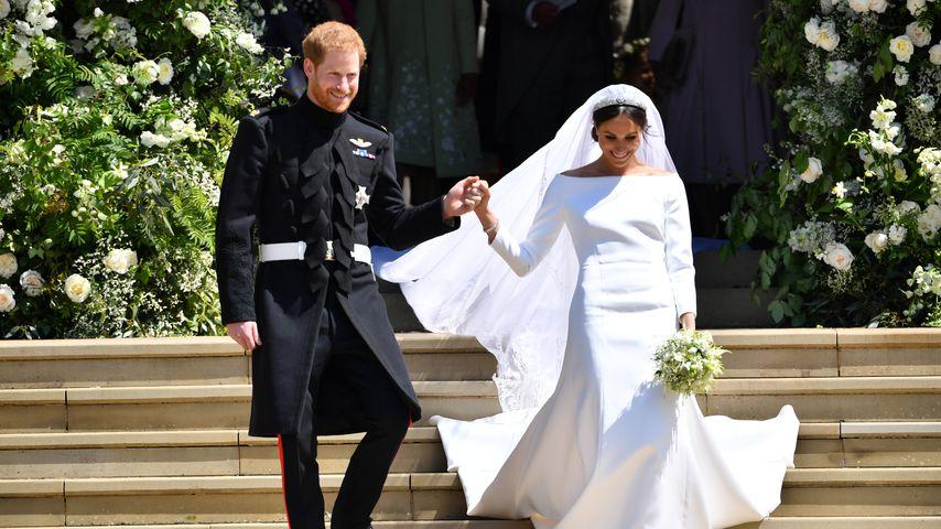 Prinz Harry und Herzogin Meghan vor der St George's Kapelle