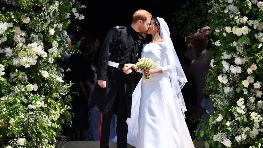 Prinz Harry und Herzogin Meghan auf ihrer Hochzeit im Jahr 2018