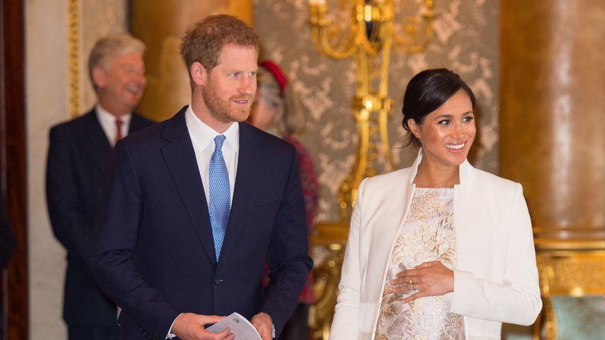Prinz Harry und Herzogin Meghan im Buckingham Palast