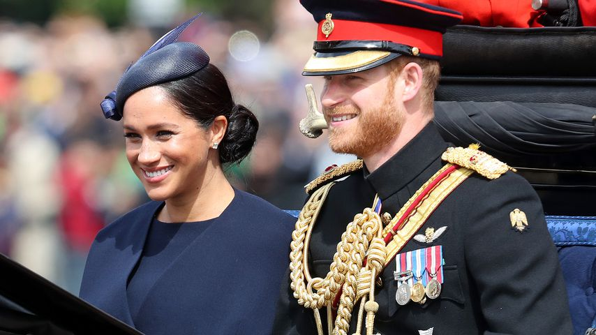 Prinz Harry und Herzogin Meghan während der Trooping the Colour-Parade