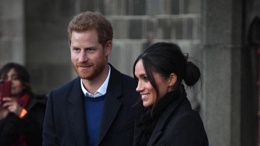 Prinz Harry und Meghan Markle bei einem Besuch in Cardiff