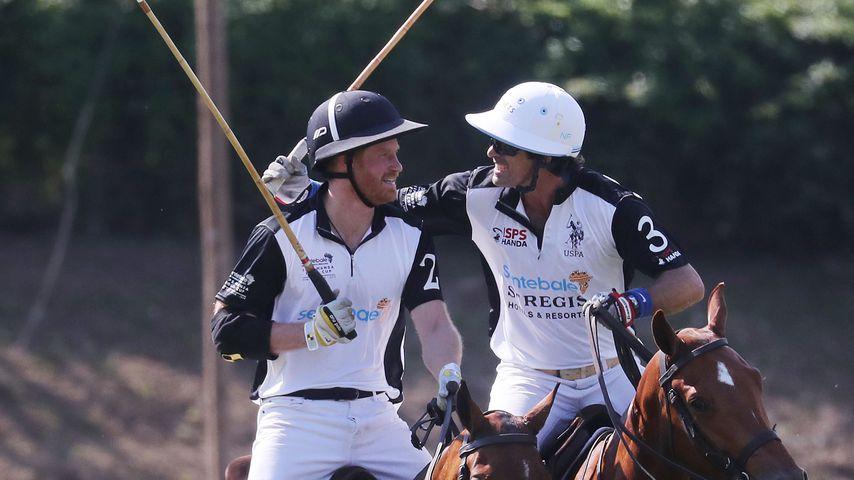 Prinz Harry und Nacho Figueras beim Polo