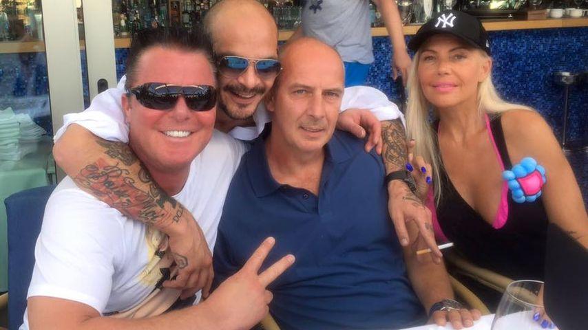 Prinz Marcus, Ben Tewaag , Mario Basler und Natascha Ochsenknecht auf Ibiza