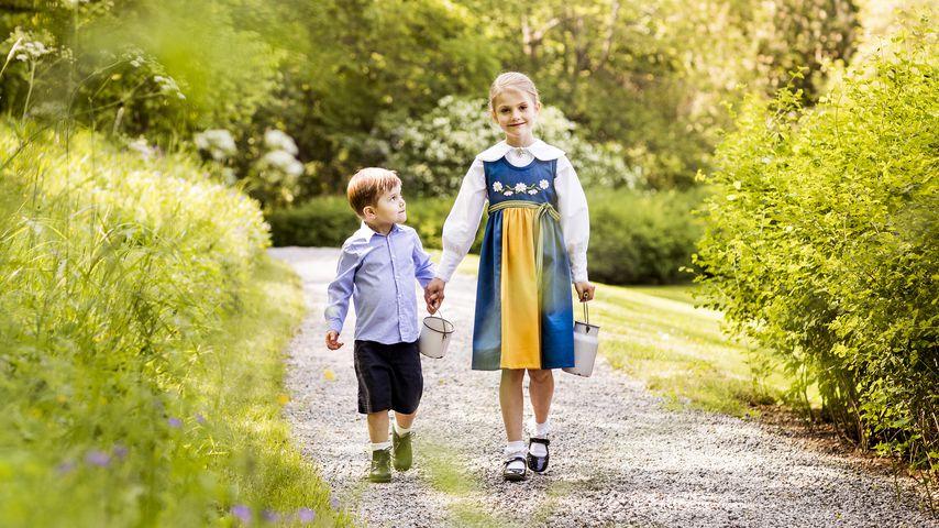Prinz Oscar und Prinzessin Estelle am schwedischen Nationalfeiertag