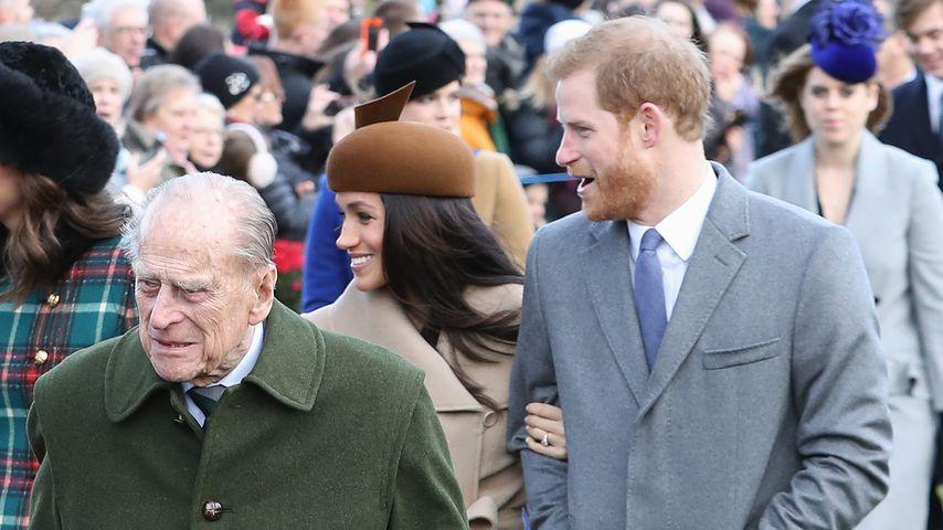 Prinz Philip, Herzogin Meghan und Prinz Harry