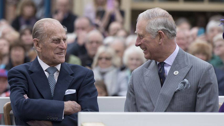Prinz Philip und Prinz Charles im Oktober 2016
