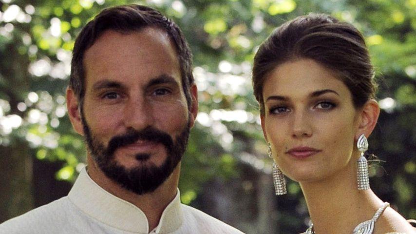 Prinz Rahim Aga Khan und seine Frau