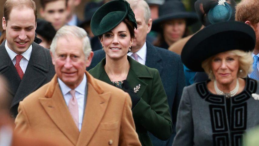Herzogin Kate, Prinz William, Prinz Charles und Camilla Parker Bowles