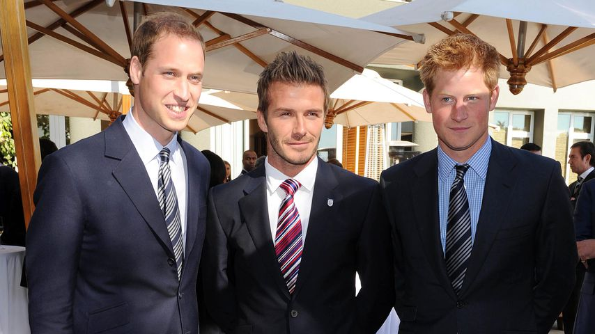 Prinz William, David Beckham und Prinz Harry 2010 in Johannesburg