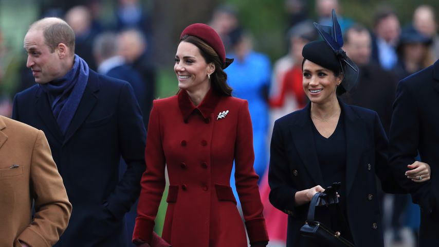 Prinz William, Herzogin Kate und Herzogin Meghan in Sandringham