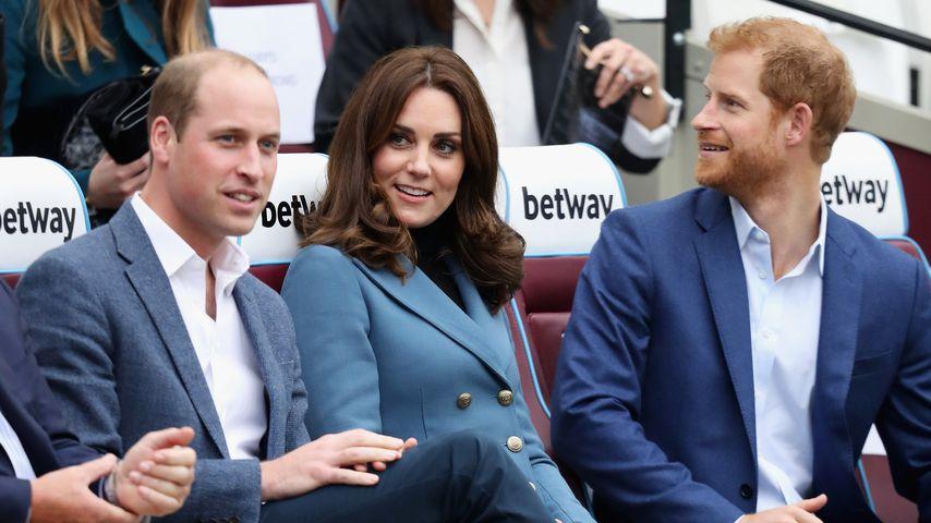 Prinz William, Herzogin Kate und Prinz Harry in London, 2017