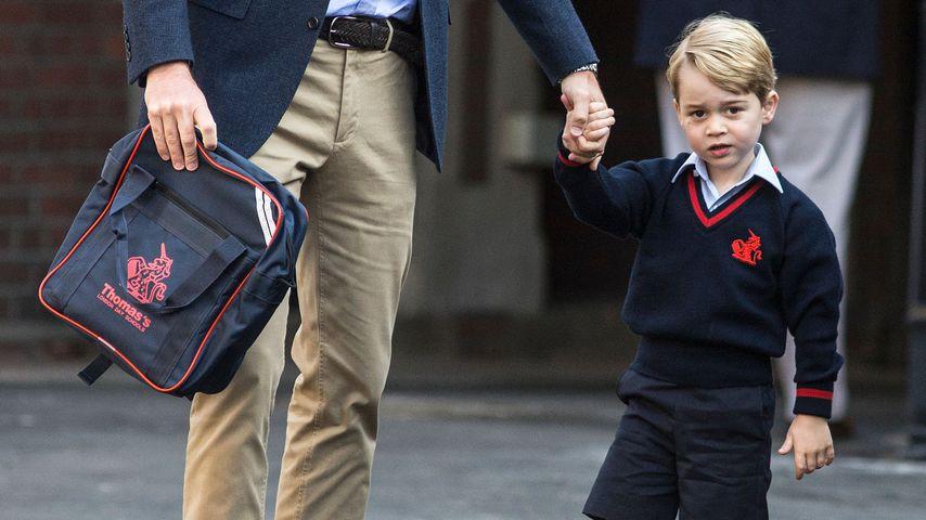 Prinz William mit Prinz George