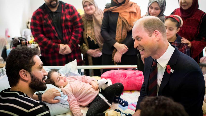 Prinz William spricht mit jungem Terror-Opfer über Charlotte