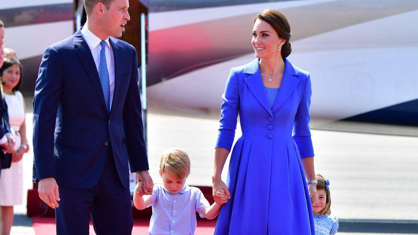 Prinz William, Prinz George, Herzogin Kate und Prinzessin Charlotte in Berlin